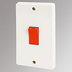 Crabtree 50A 2-Gang Switch