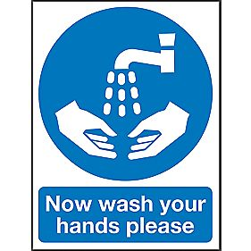 """Now Wash Your Hands Please"" Sign 400 x 300mm"