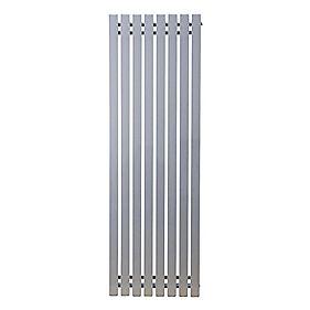 Erupto Square Vertical Designer Radiator Silver 1800 x 285mm 3286BTU
