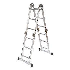 Multipurpose Ladder 4-Section 4 x 3 Rungs 3.34m