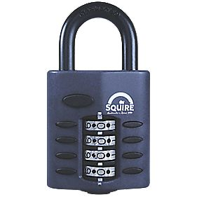 Squire Zinc Die-Cast Construction All-Weather Combination Padlock Black 40mm