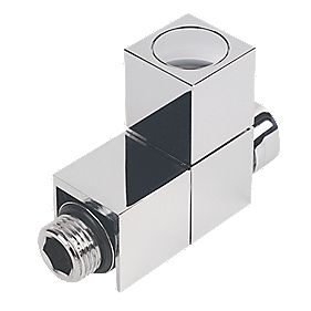 Milano Cube Straight Radiator Valve 15mm Pair