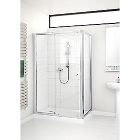 Mira Flight ACE Shower Enclosure Side Panel Silver 760mm