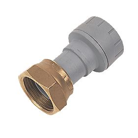PolyPlumb Straight Tap Connector 15mm x ¾""