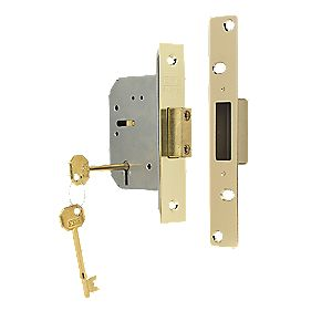 "ERA 5-Lever Mortice Deadlock Brass Effect 2½"" / 64mm"