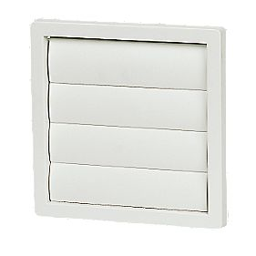 Manrose Flap Vent White 160 x 160mm