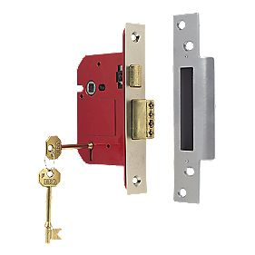 "ERA 5-Lever BS 3621: 2007 Mortice Sashlock Satin Nickel 3"" (76mm)"