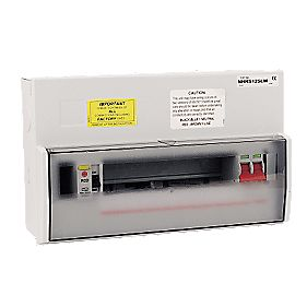 WYLEX 12-Way metal split load Consumer Unit