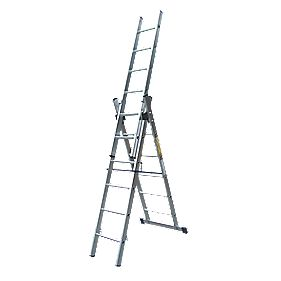 Lyte SFLCL6 Aluminium 6-Way Combination Ladder 3 x 6 Rungs 4.1m