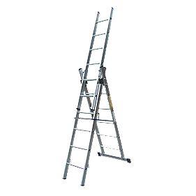 Lyte SFLCL6 Aluminium 6-Way Combination Ladder 3 x 6 Rungs 4.1m