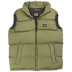 CAT C430 Body Warmer Olive Large 42-44""