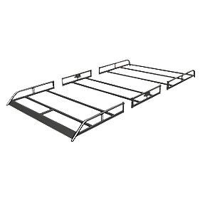 Rhino Modular Rack R521 High Roof LWB /Mercedes/VW