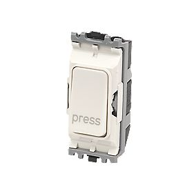 MK 2-Way 10A 'Press' Switch White