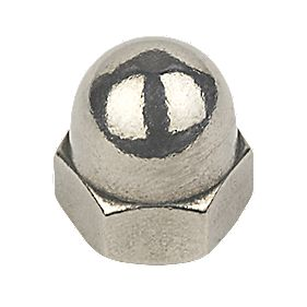 Dome Nuts A2 Stainless Steel M8 Pack of 100