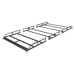 Rhino R583 Modular Roof Rack Tailgate LWB/Toyota Hi-Ace