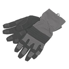 Snickers Secure Handling Craftsmans Gloves Grey Medium