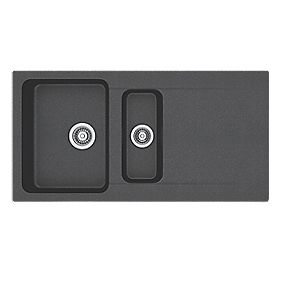 Franke Black Composite Sink : ... Sink Black 1?-Bowl Reversible 1000 x 510mm Composite Sinks