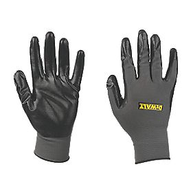 DeWalt Secure Handling Nitrile-Coated Nylon Gloves Grey Large