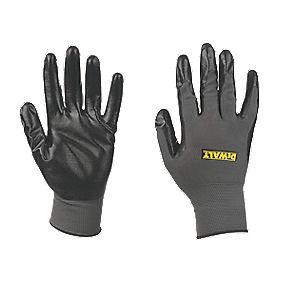 DeWalt Nitrile-Coated Nylon Gloves Grey Large