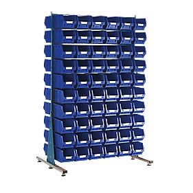 MDS1.5 Spacemaster Double-Sided Storage Bin Kit 120 x TC3 Blue