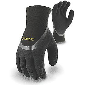 Stanley Secure Handling Winter Gripper Gloves Black Large