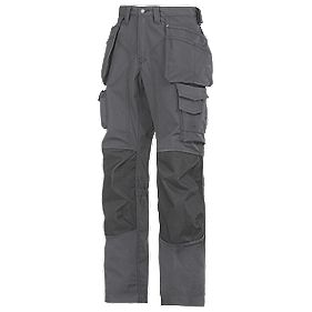 "Snickers Rip-Stop Pro-Kevlar Floorlayer Trousers Grey/Black 35"" W 32"" L"