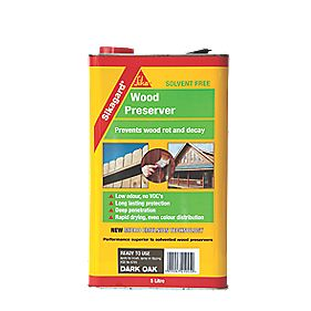 Sika Wood Preserver Dark Oak 5Ltr