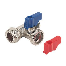 "Washing Machine Valve Tee 15mm x ¾"" BSP"