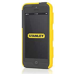 Stanley Foreman iPhone 5 Mobile Phone Case & Holster Black & Yellow