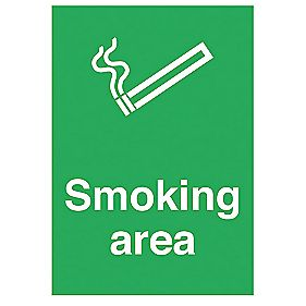 """Smoking Area"" Sign 500 x 300mm"