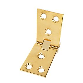 Brass Counterflap Hinge Polished Brass 38x102mm Pack of 2