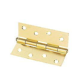 Steel Loose Pin Hinge Electro Brass 102mm Pack of 2