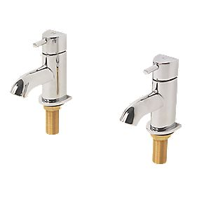Moretti Acqua Bathroom Basin Taps Pair