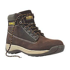 DeWalt Apprentice Safety Boots Brown Size 8
