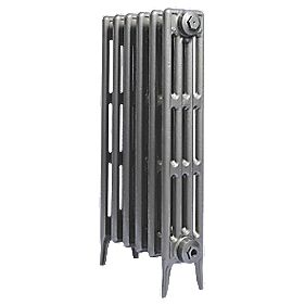 Cast Iron 760 Designer Radiator 4-Column Gun Metal Grey H: 760 x W: 645mm