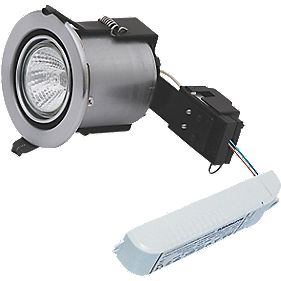 Sylvania Adjustable Fire Rated Downlight Contractor Pack Brushed Steel 12V