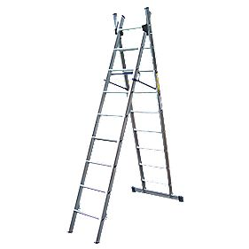 Lyte SF2CL9 Aluminium Alloy Combination Ladder 9 Rungs 4.38m