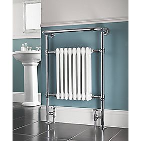 Victorian 8-Section Bathroom Radiator Chrome 659 x 952mm 498W 1699Btu