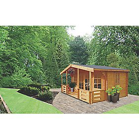 Lydford 2 Log Cabin 3.5 x 5 x 2.5m Assembly Included