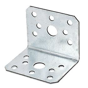 Sabrefix Heavy Duty Angle Brackets Galvanised 60 x 50mm Pk10