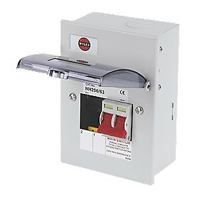 WYLEX 2-Way Metal Enclosure Main Switch Consumer Unit