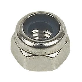 A4 Stainless Steel Nylon Lock Nuts M4 Pack of 100