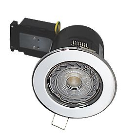 Robus Fixed Fire Rated Mains Voltage Downlight 4000K Chrome 240V