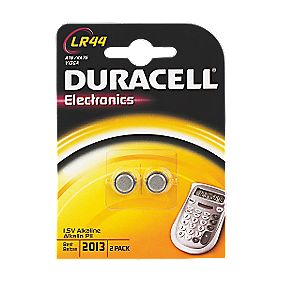 Duracell LR44 1.5V Alkaline Battery Pack of 2