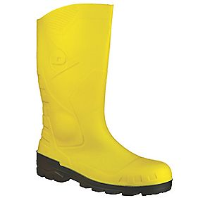 Dunlop. Devon H142211 Safety Wellington Boots Yellow Size 4