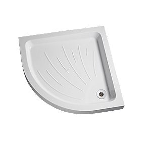 Mira Flight Quadrant Corner Shower Tray Acrylic 800 x 800 x 90mm