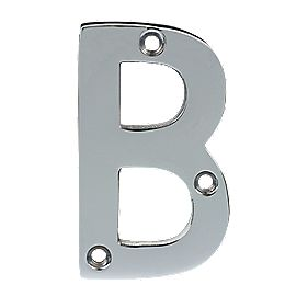Door Letter B Polished Chrome