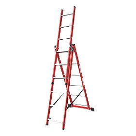 Lyte SFRC6 Fibreglass 3-Way Combination Ladder 3 x 6 Rungs 3.39m