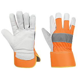General Handling Reflective Rigger Gloves Orange X Large
