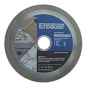 Erbauer Diamond Tile Blade 150mm